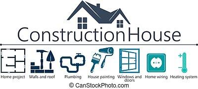 épület szerkesztés, jelkép