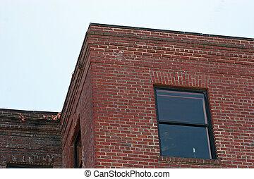 épület, tégla, 2