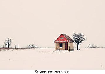 épület, tél