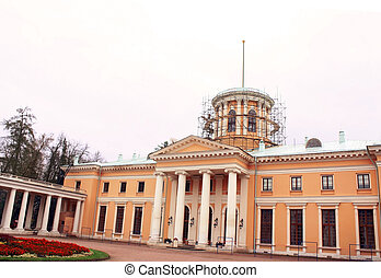 épület, történelmi, restaurálás, alatt