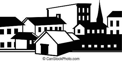 épület, tartózkodási, kereskedelmi