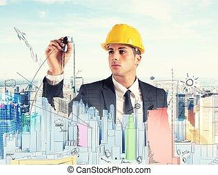 épület, terv