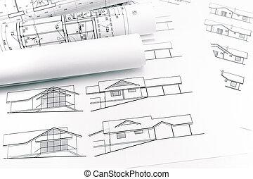 épület, tervrajz, szerkesztés, hengermű