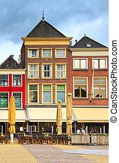 épület, utca, kilátás, hollandia, ércbánya