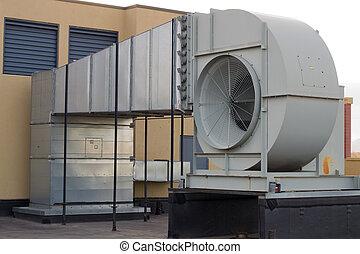 épület, ventiláció