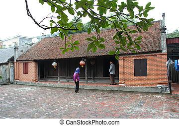 épület, vietnam, vidéki