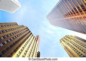 épületek, egyesített