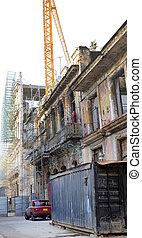 épületek, havanna, öreg, kopott