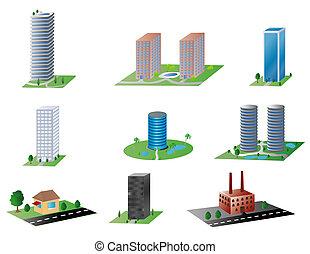 épületek, különféle