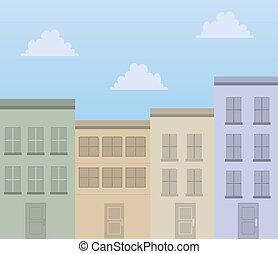 épületek, szoba