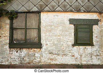 épülethomlokzat, épület, öreg