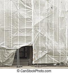 épülethomlokzat, épület, restaurálás, öreg