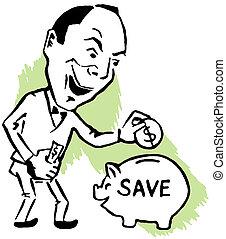 épargnant, économe