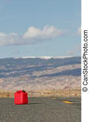 épargner, essence, rouges, réservoir