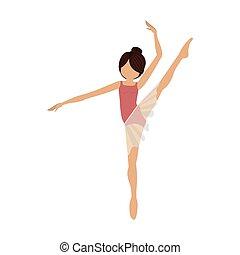épaule, coloré, jambe, pose, élevé, danseur