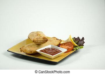 épicé, nourriture asiatique