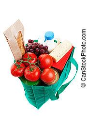 épicerie, sac, reuseable