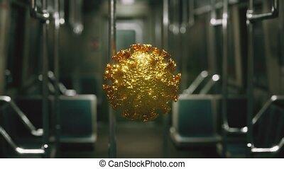 épidémie, métro, covid-19, coronavirus, voiture