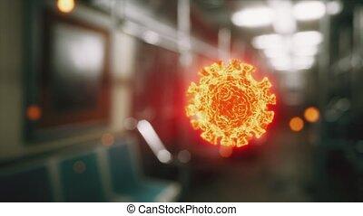 épidémie, voiture, métro, covid-19, coronavirus