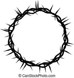 épines, christianisme, symbole, paques, religieux, couronne