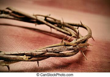 épines, couronne, christ, jésus