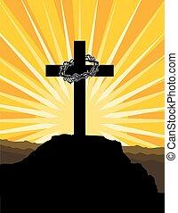 épines, couronne, croix