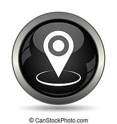épingle, emplacement, icône