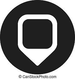 épingle, icône, emplacement, vecteur