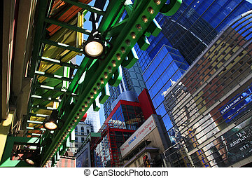 épocas, square., ciudad nueva york