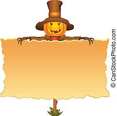 épouvantail, halloween, invitation