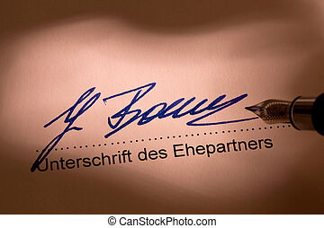 époux, signature
