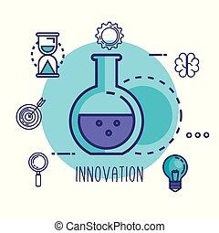 éprouvette, innovation, icônes