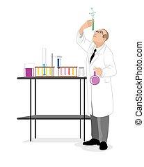 éprouvette, scientifique