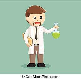 éprouvette, scientifique, tenue