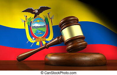 équateur, droit & loi, et, justice, concept