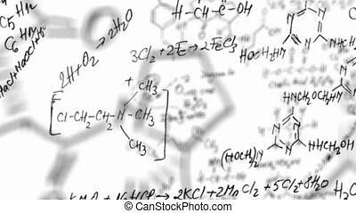 équation, chimie, boucle