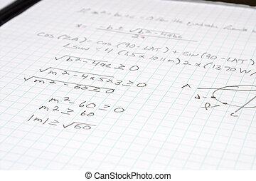 équation, math, algèbre