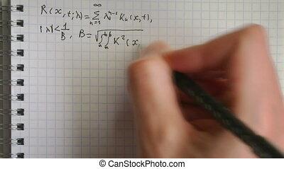 équation, timelapse, intégral, solution