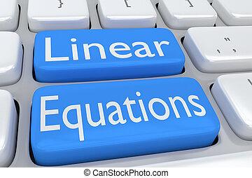 équations, linéaire, concept