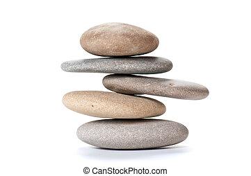 équilibré, cailloux