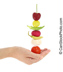 équilibré, légumes, régime, fruits