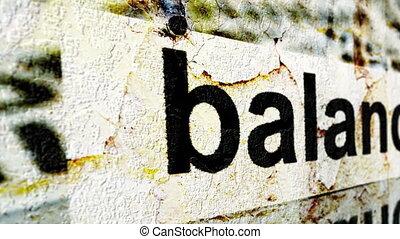 équilibre, concept, grunge