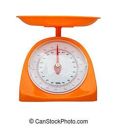 équilibre, isolé, poids, mesure