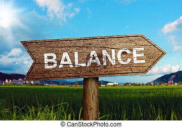 équilibre, panneaux signalisations