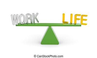 équilibre, vie, travail, entre