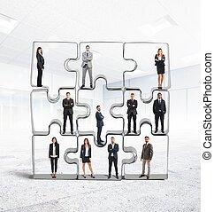 équipe, associé, intégration