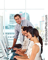 équipe, business, fonctionnement, international, ensemble