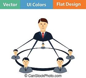 équipe, business, icône