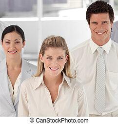 équipe, business, projection, positivité, esprit, exprimer