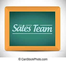 équipe, conception, ventes, illustration, signe